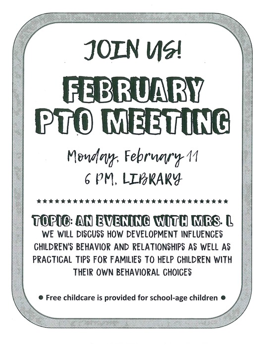 PTO Feb meeting flyer