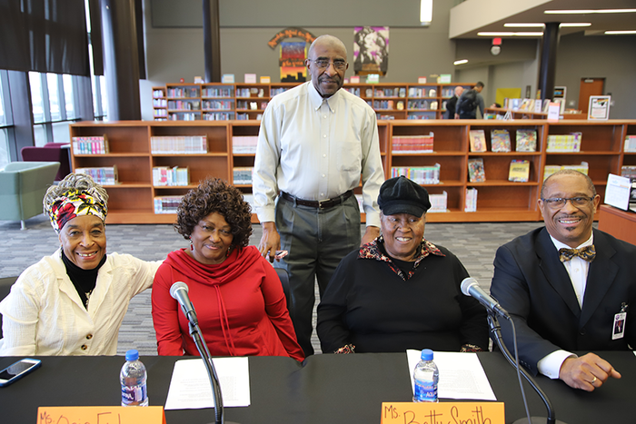 The Matthew William Moore Library presented: Unification@FHS: A History of Race and Education in Fayetteville featuring, Ocie Fisher, Jimmye Whitfield, Betty Smith, and Dr. John L Colbert.