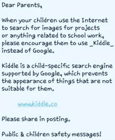 kiddle message from Kelly Wade