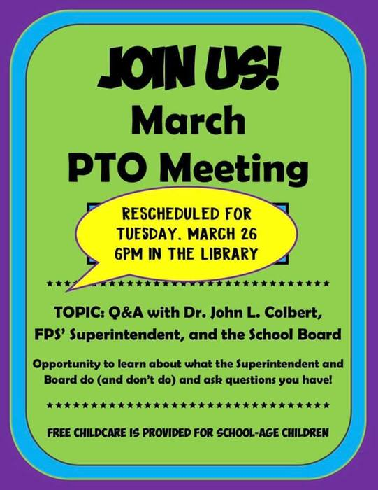 PTO march flyer