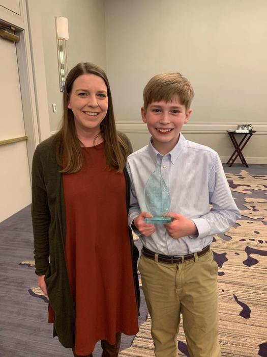 Henry Foster, a 5th grader at McNair Middle School, was awarded the Youth Challenger Award at the Arkansans for Gifted and Talented Education state conference in Little Rock on February 28.