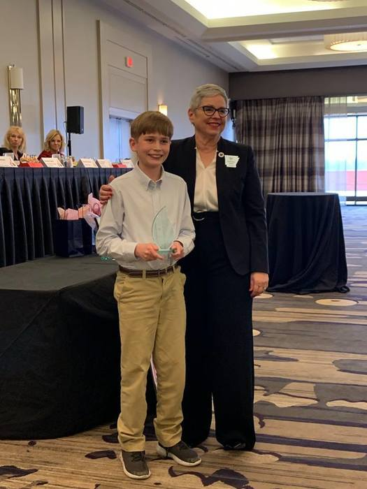 Henry Foster, a 5th grader at McNair Middle School, was awarded the Youth Challenger Award at the Arkansans for Gifted and Talented Education state conference in Little Rock on February 28. The purpose of the Youth Challenger Award is to honor and recognize a student who risked taking an unusual, creative, different, and innovative step in a direction most people wouldn't think to consider.