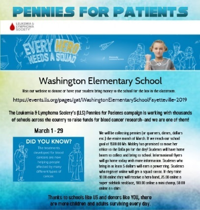 pennies for patients flyer