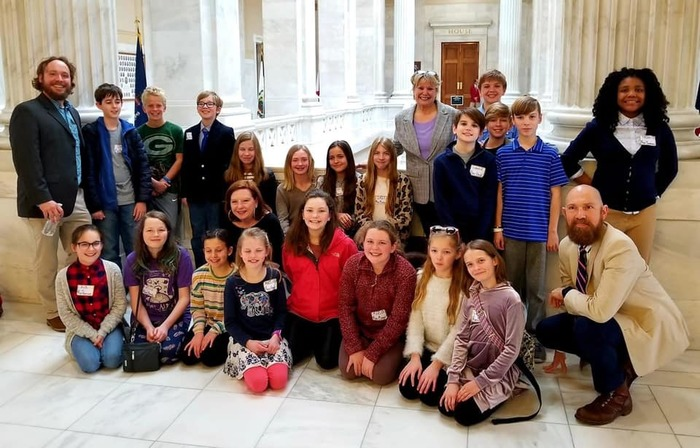 McNair Middle School students visitied with Arkansas Representative Denise Garner at the capitol!