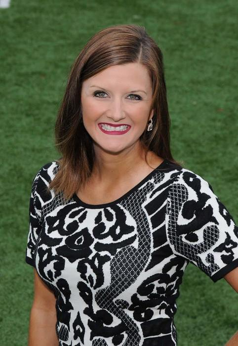 Elizabeth Thomas-Gammill head cheer coach at Fayetteville High School