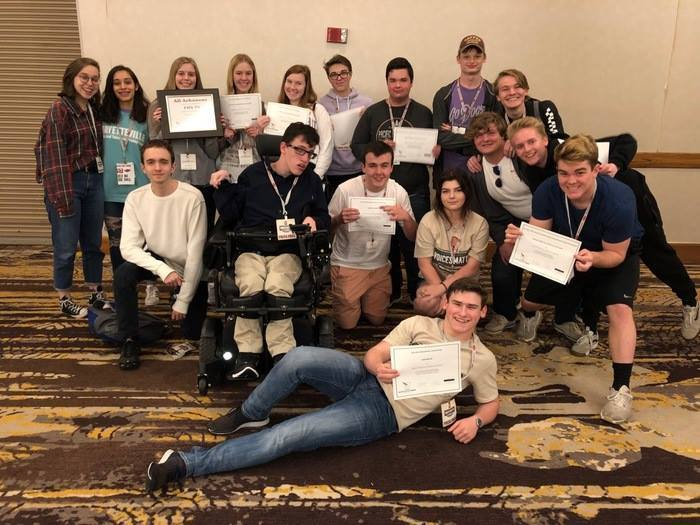 CONGRATULATIONS to @FayettevilleHS Bulldog TV for their performance at the Arkansas Scholastic Press Association.