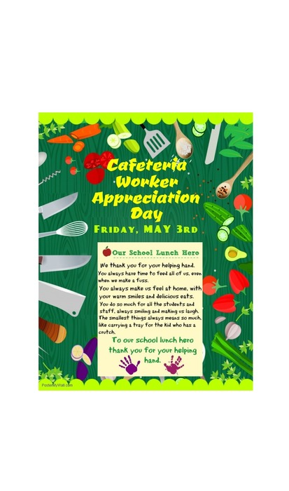 cafeteria workers appreciation day flyer