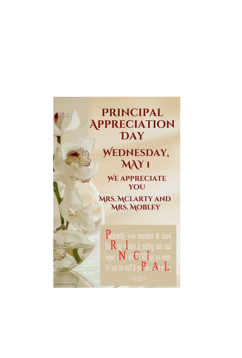 Principal Appreciation Day flyer