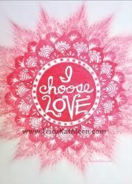 I choose love poster