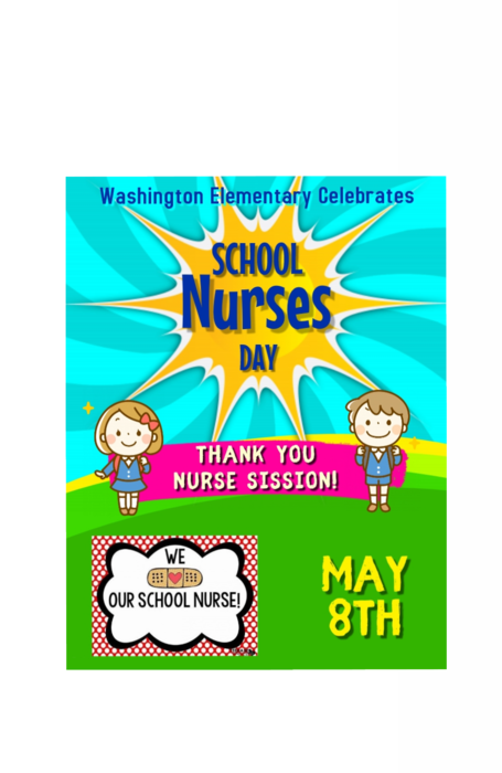 school nurses day poster