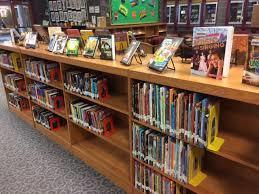 school library book shelves