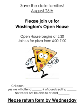 open house pizza flyer