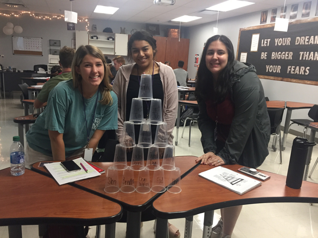 Maslow's Hierarchy of Needs - Cup Stacking
