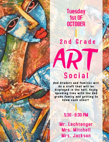 flyer for 2nd grade craft social night