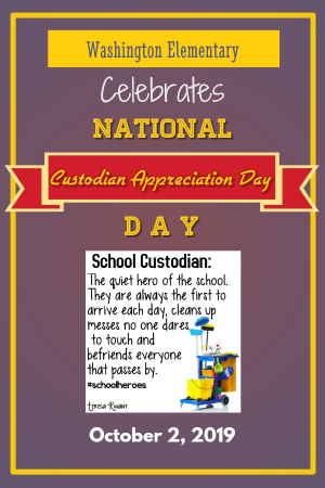 Custodian Appreciation Day flyer
