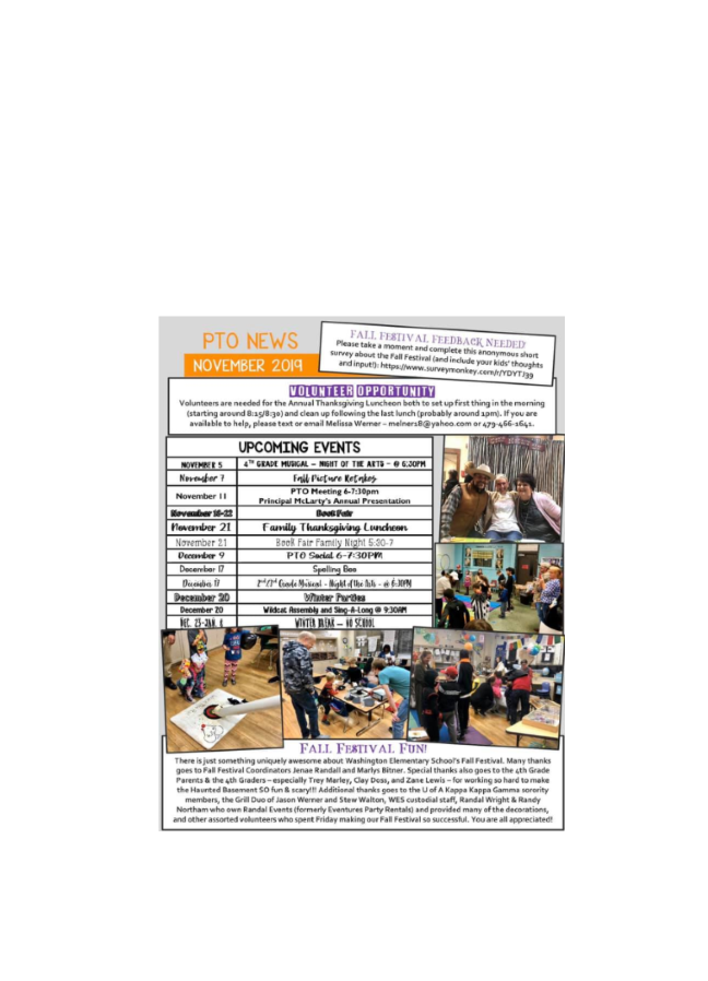 pto nov 2019 newsletter flyer
