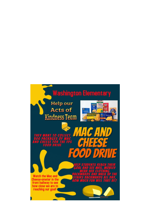 Mac and cheese drive flyer