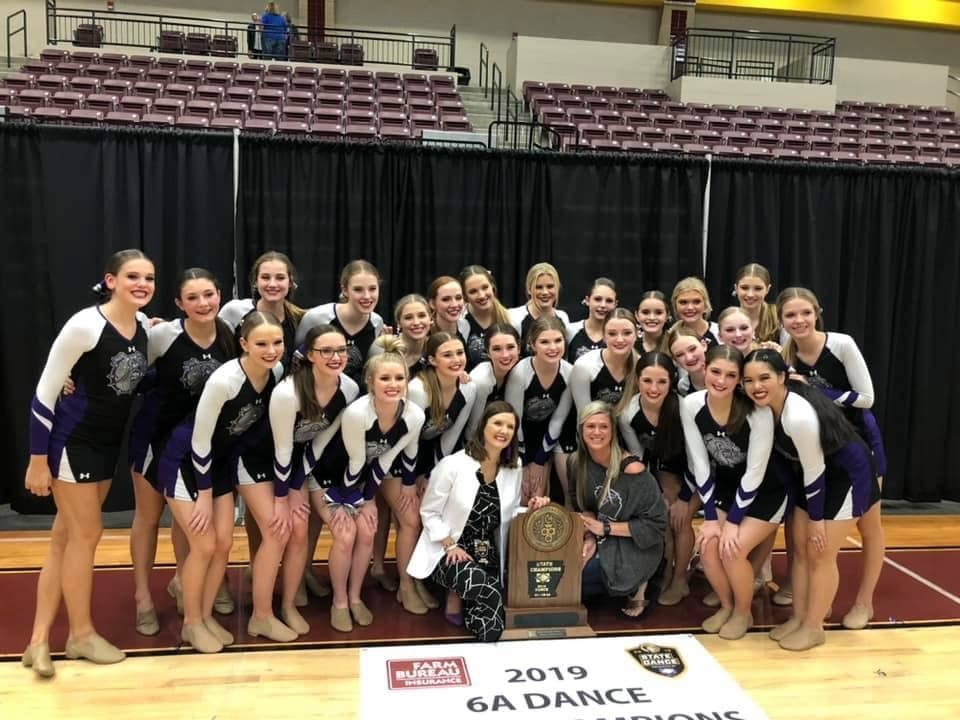 FHS Dance Team Wins State! Picture of dance team with their trophy and coaches!