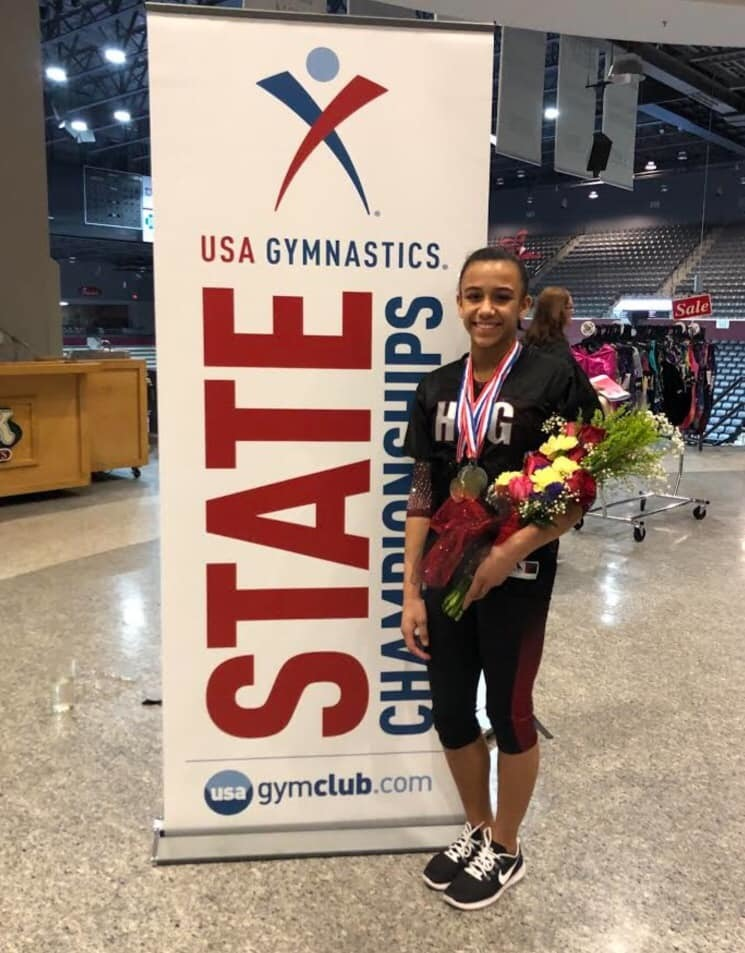 Student Spotlight: Ayzhia Hall, 11th grade Ayzhia is an elite gymnast who fell in love with the sport at the age of 4 when she and her mother enrolled in a local Mommy and Me class. Since then, she has competed all over the nation earning top marks on floor, vault, uneven bars, and balance beam events. In 2019, she qualified and competed at the Junior Olympic Nationals in Indianapolis, Indiana, where she finished 6th All-Around. Ayzhia is an outstanding student-athlete who excels not only on the mat but also in the classroom. Upon graduation in 2021, she will follow her dreams to compete collegiately at the University of Nebraska - Lincoln where she has committed. Way to go, Ayzhia! FVA is so proud of you!