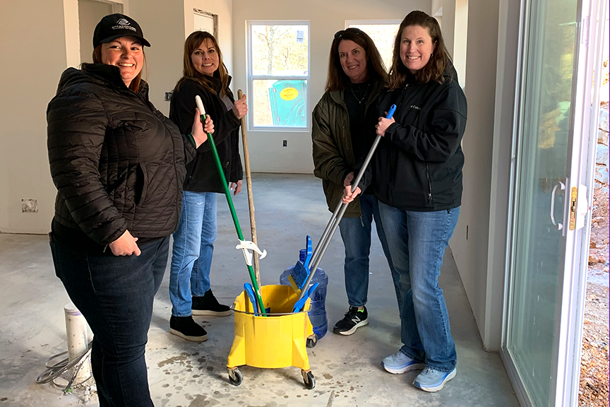 Teachers at McNair Middle School spent part of their Professional Development Day on January 7 volunteering their time for community service around Fayetteville.