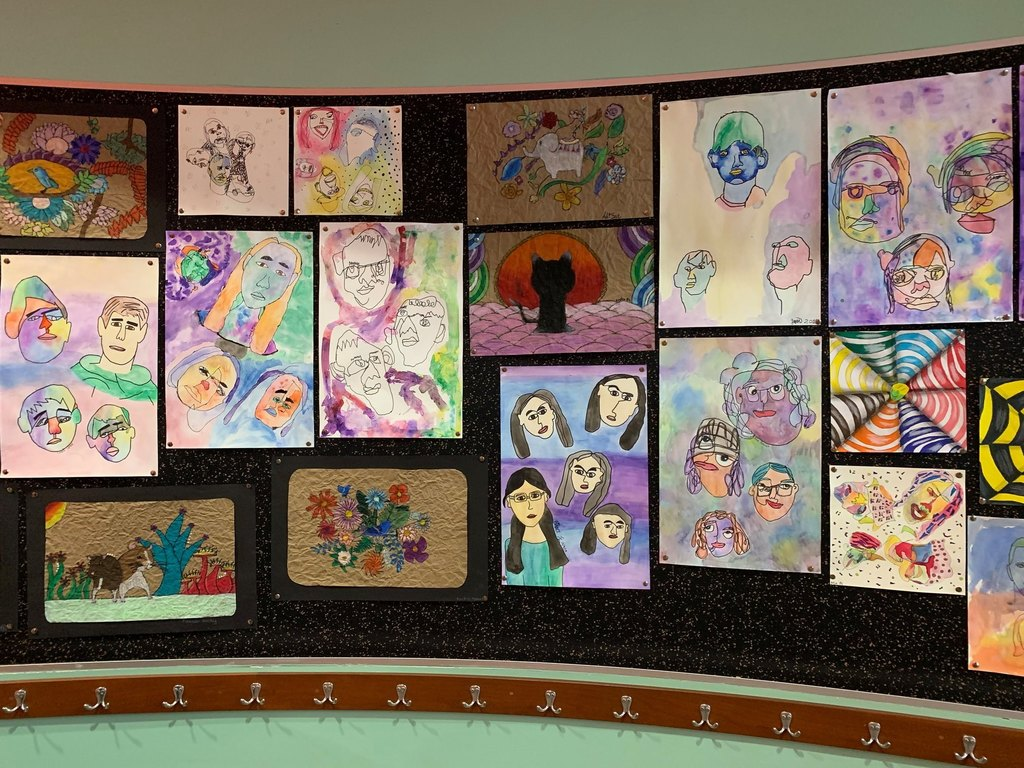 Check out the artwork created by Holt, McNair, and Owl Creek Middle School students currently on display at the Fayetteville Public Library!