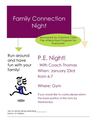 family connection flyer