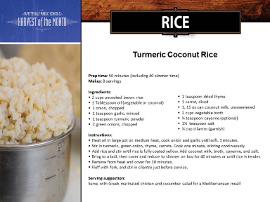 Tumeric Coconut Rice recipe