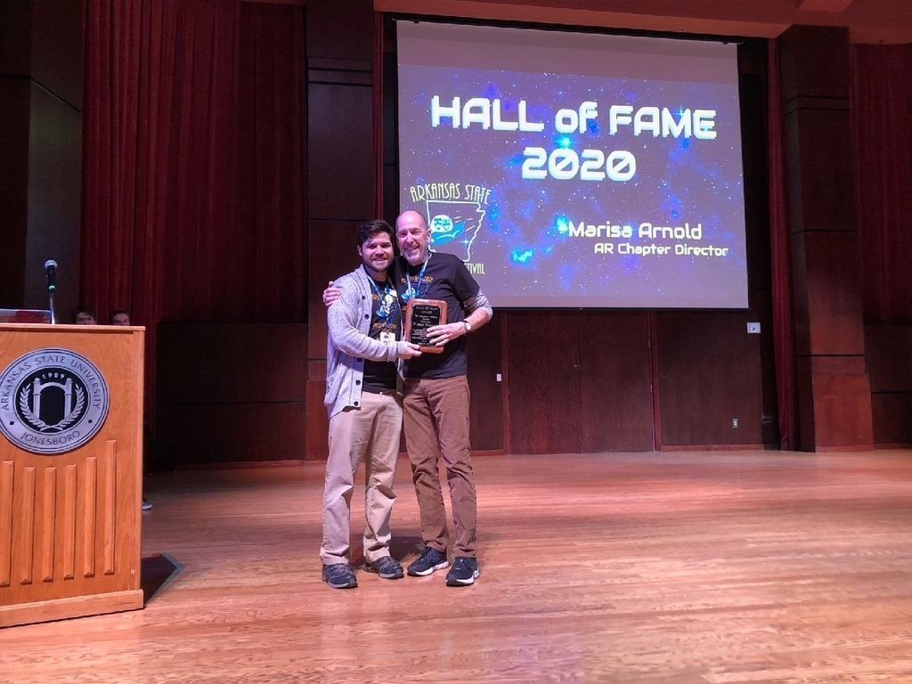 Congratulations to @FayettevilleHS teacher, Warren Rosenaur, who was inducted into the Arkansas Thespian Hall of Fame this weekend at the Arkansas State Thespian Festival!