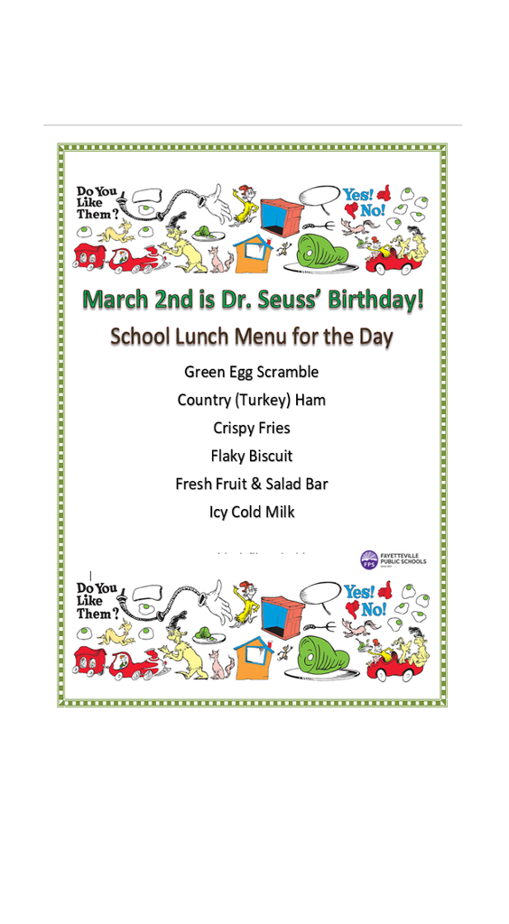 dr seuss' birthday flyer