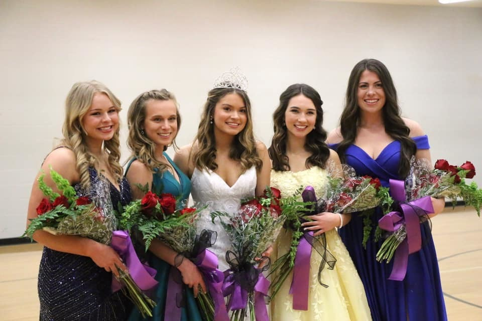 Congratulations to the 2020 FHS Colors Day Court!  Queen Ryan Jungmeyer Maid of Honor Baileigh Payne First Maid Grace Litzinger Second Maid Sydney Kincaid Third Maid Hannah Hornberger