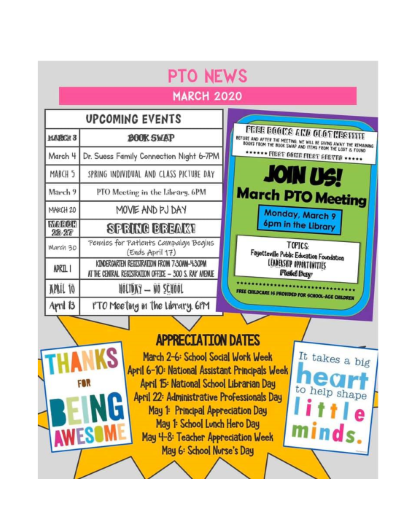PTO March newsletter