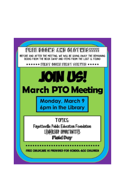 March PTO meeting flyer