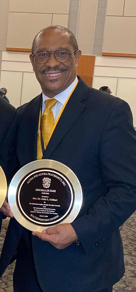 Superintendent Dr. John L Colbert was inducted into the 2020 Hall of Fame at the 74th Southwestern Regional Convention of Alpha Phi Alpha Fraternity, Inc. for his 45 years of Service in developing leaders, promoting brotherhood and academic excellence, while providing service and advocacy for our communities. Congratulations Dr. Colbert!