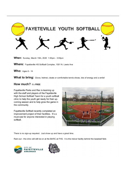 softball clinic flyer