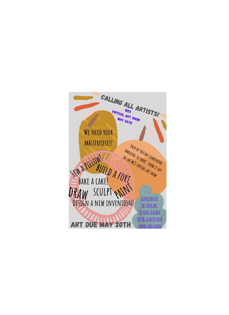 Virtual Art Talent flyer