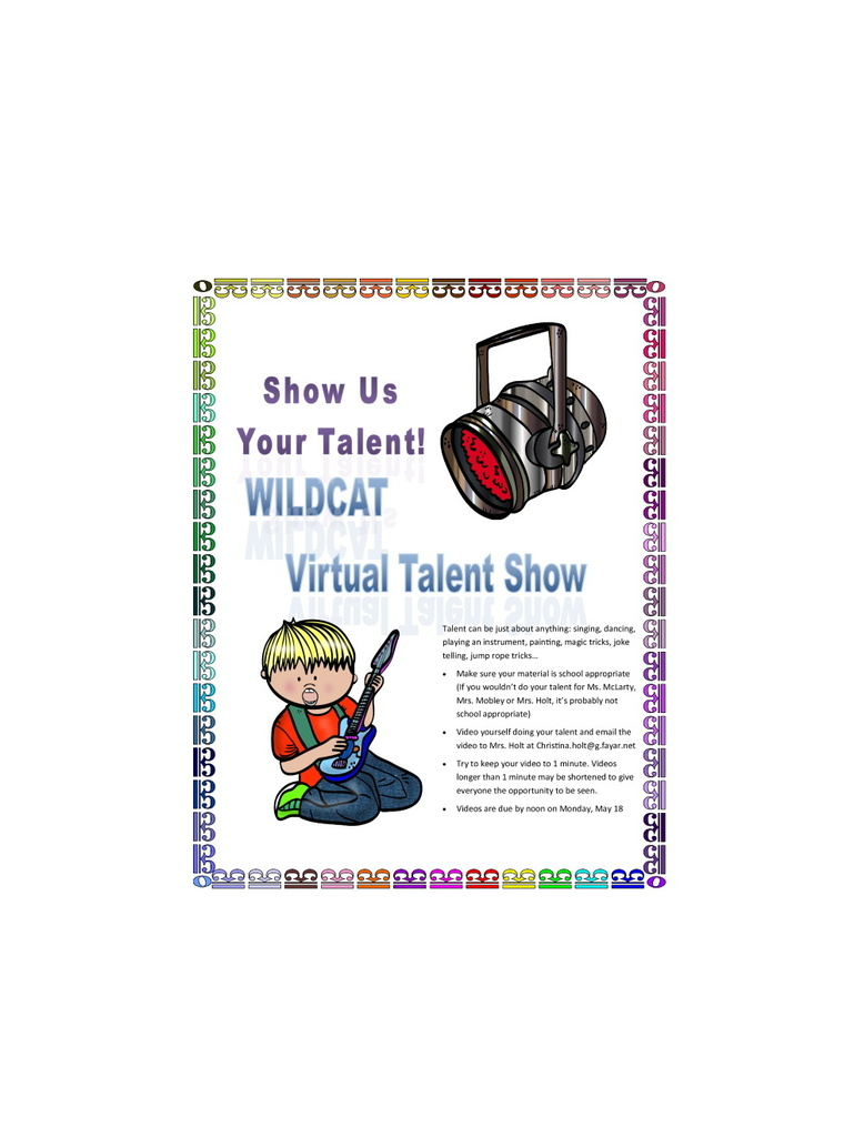 virtual talent show flyer