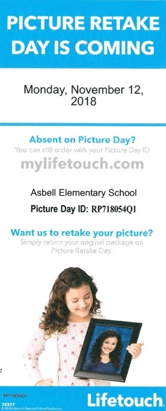 Picture Retake Day - Monday, Nov. 12th